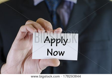 Apply Now Text Concept