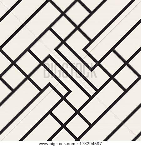 Classsic seamless geometric pattern. ector monochrome background.