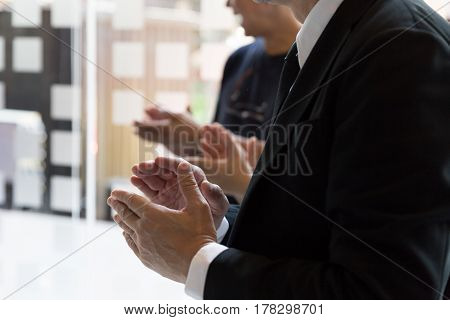 Business People Clapping Hands. Business Meeting Seminar Concept