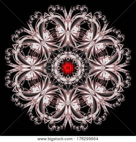 Beautiful background with floral circle ornament.