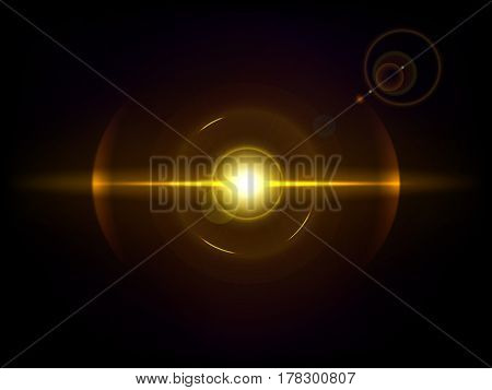 Space explosion, cosmos burst. Colored bang on deep dark background
