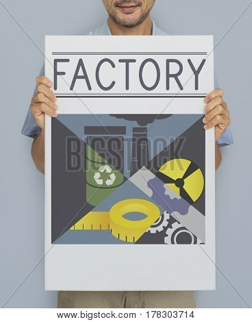 Architect Engineer Factory Industrial Machinery Concept