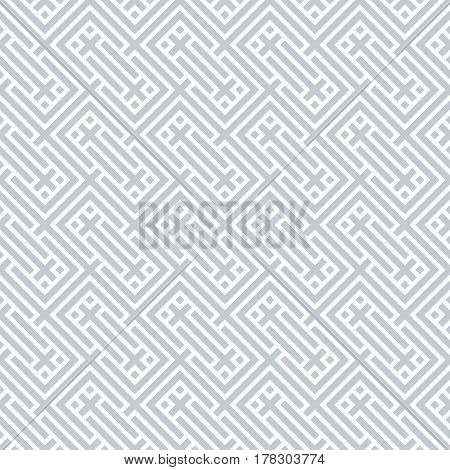 Vector chevron seamless pattern. Infinitely repeating stylish elegant texture consisting of strips which form rhombuses rectangles crosses. Abstract geometrical background.