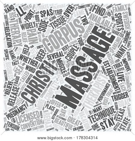 Get A Massage In Corpus Christi text background wordcloud concept