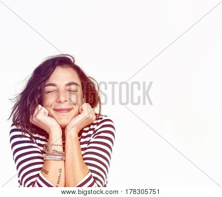 Woman Happy Face Expression Emotion