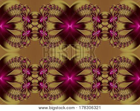 Seamless flower fractal pattern.