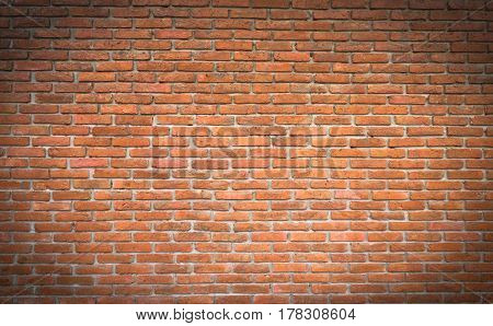 Background of old vintage brick wall for vintage style