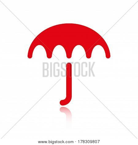Umbrella vector icon. Rain protection symbol. Flat design style