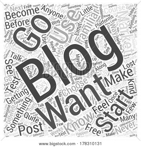 Getting Started With Blog Marketing Word Cloud Concept