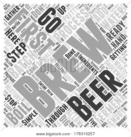 Getting that First Batch of Beer Brewing Word Cloud Concept poster