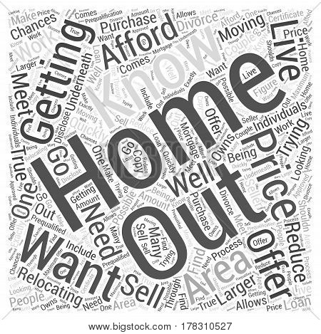 Getting the Home you want at a Price you can Afford Word Cloud Concept