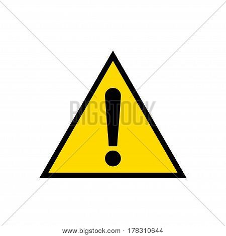 Warning, attention, alert, caution, hazard, yellow triangle sign icon isolated on white background