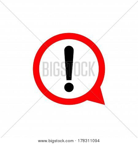 Exclamation mark sign. Round hazard warning symbol. Vector Icon