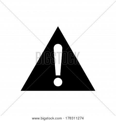 Triangle warning, alarm, alert attention sign vector icon