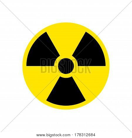 Round radiation hazard sign symbol. Vector Icon