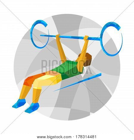 Physically Disabled Weightlifter With Abstract Patterns