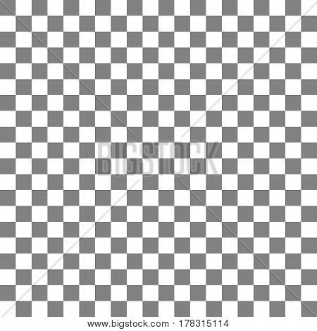 Gray and white chess board. Seamless pattern with gray and white squares. Vector illustration
