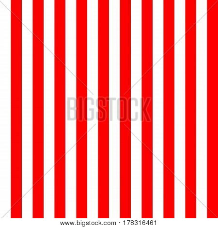 Red striped seamless background. Vector illustration. Red strips on white background. Simple minimal linear design.