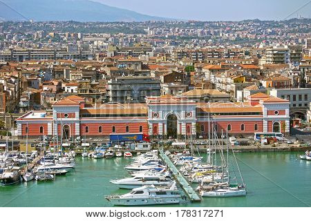 CATANIA. ITALY. - June 25, 2013: Port of Catania,Sicily. ITALY.