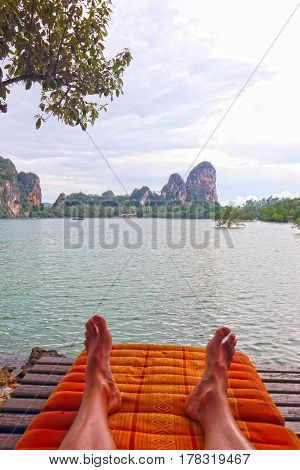 A beautiful pic of Relax in Thailand beach.