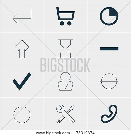 Vector Illustration Of 12 Member Icons. Editable Pack Of Remove, Switch Off, Accsess And Other Elements.