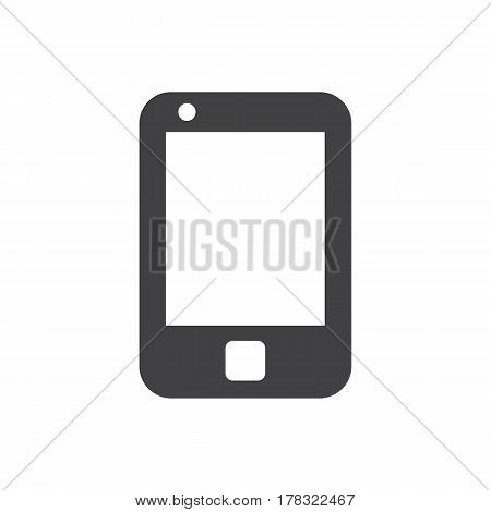 mobile icon on the white background. Vector illustration