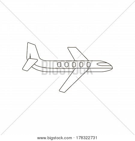 Plane illustration silhouette on the white background. Vector illustration