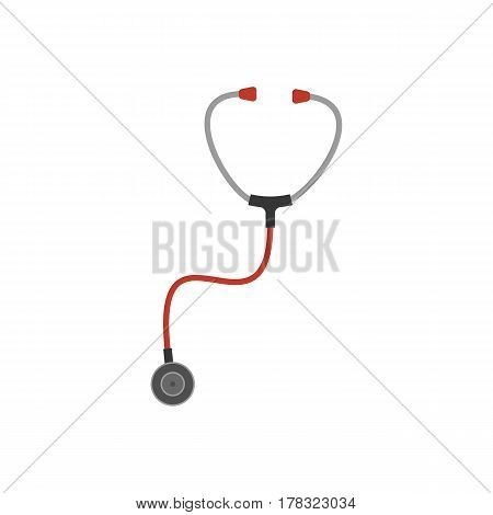 Stethoscope on the white background. Vector illustration