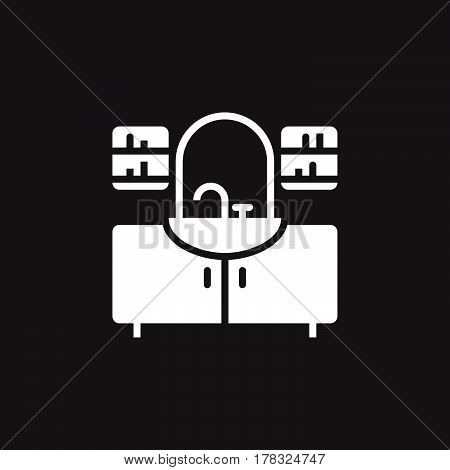 washstand icon vector solid flat sign pictogram isolated on black logo illustration