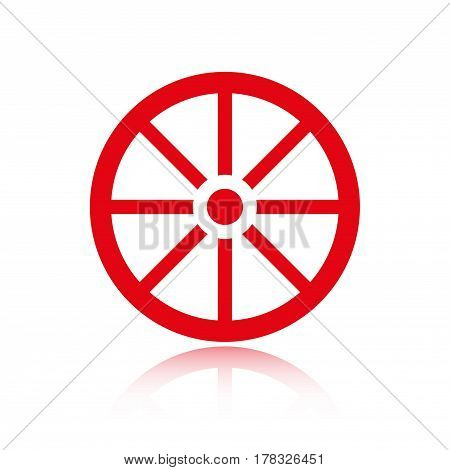 wheel icon stock vector illustration flat design