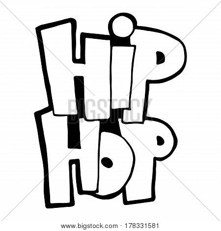 The phrase hip-hop. Graffiti handwritten. Modern brush calligraphy. Prints, posters, videos, mobile apps, web sites and print projects.
