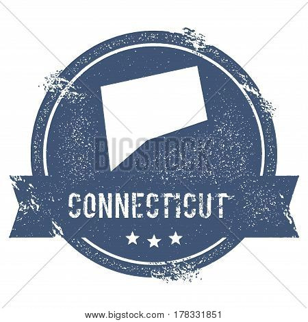 Connecticut Mark. Travel Rubber Stamp With The Name And Map Of Connecticut, Vector Illustration. Can