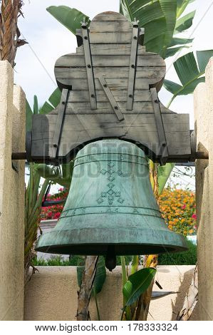Dolores Bell, replica from Olvera Street Plaza