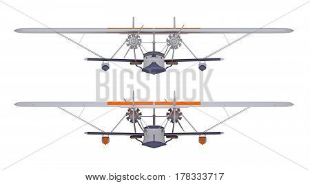 hydroplane isolated on white front view. 3d rendering