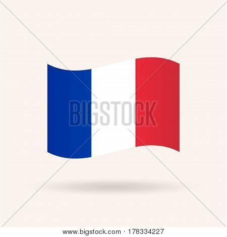 Flag of France. Accurate dimensions, proportions and colors. Vector Illustration