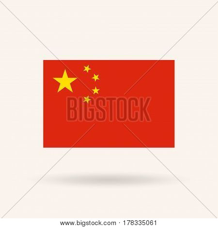 Flag of China. Accurate dimensions, proportions and colors. Vector Illustration