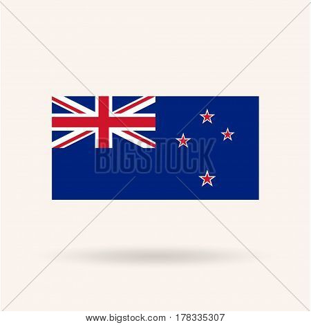 New Zeland flag. Accurate dimensions, proportions and colors. Vector Illustration