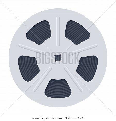Film Reel, vector illustration in flat style