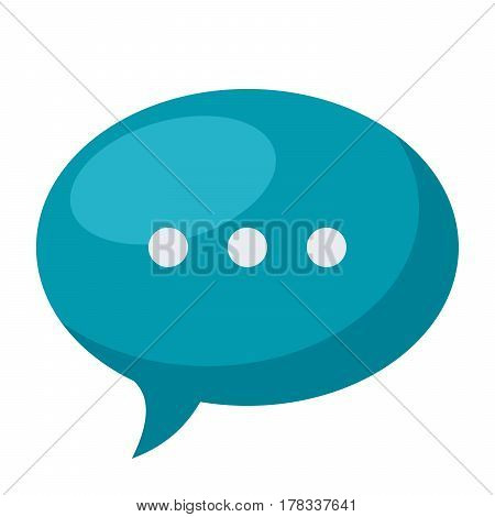 Speech bubble icon, vector illustration in flat style