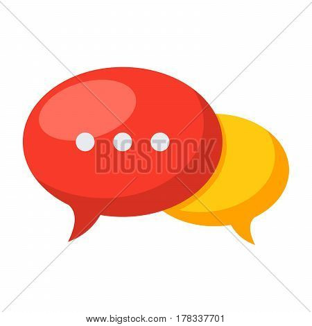 Speech bubbles icon, vector illustration in flat style