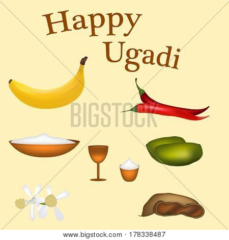 Guess the Indian New Year, Goody Padva vector illustration