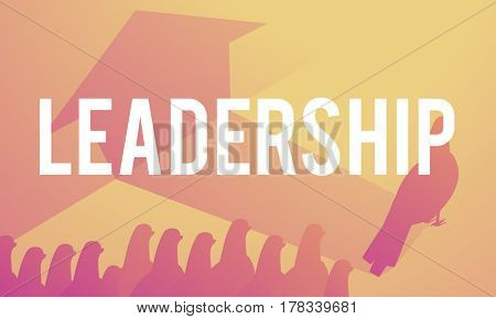 Leadership Leader Lead Outstanding Different Graphic Birds