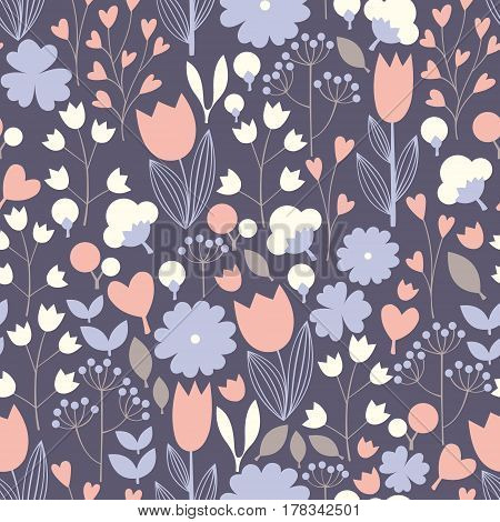 Seamless floral pattern. Vector background for textile design wallpaper design decoration of hanging packing and packing paper home textile