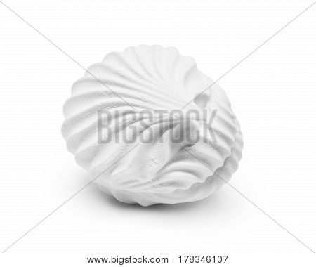 Delicate snow-white zephyr isolated on white background