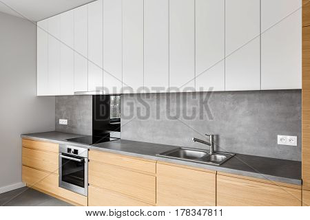 Modern Kitchen Furniture With Induction