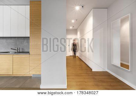 Long Modern Hallway