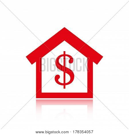 money home dollar icon stock vector illustration flat design