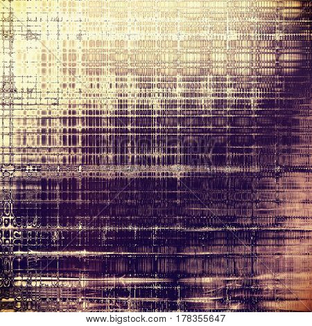 Old style design, textured grunge background with different color patterns: yellow (beige); brown; gray; purple (violet); pink