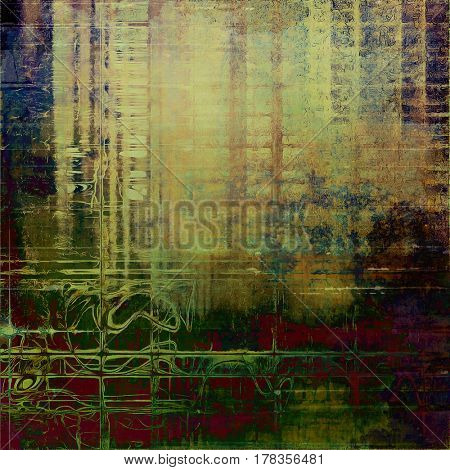 Scratched vintage texture, grunge style frame or background. With different color patterns: yellow (beige); brown; green; blue; gray; purple (violet)