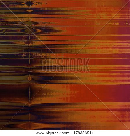 Vintage style background with ancient grunge elements. Aged texture with different color patterns: yellow (beige); brown; gray; red (orange); purple (violet); pink